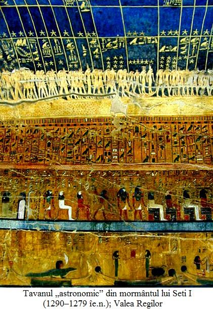"""2.9.6.1 Tavanul """"astronomic"""" din mormântul lui Seti I (1290–1279 îe.n.); Valea Regilor"""