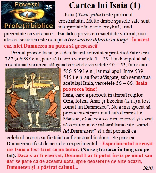 25. Cartea lui Isaia (1)