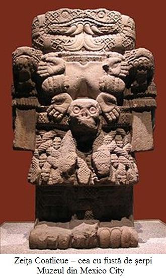 8.3.2.1 Zeiţa Coatlicue – cea cu fustă de şerpi Muzeul din Mexico City