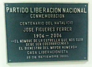 Centenario nacimiento de José Figueres Ferrer