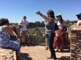 We left the Palatine after taking a stance on the Circus Maximus, and considering its significance for how/why the site of Rome was ideologically important (4/7/2017)