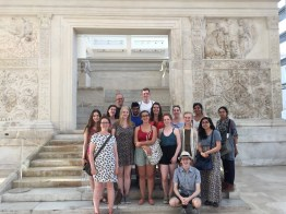 The Ara Pacis is not just re-located but significantly reconstructed. A fitting backdrop after our analysis of 'spoliation' (5/7/2017)