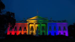Obama unveiled his support of the homogay agenda by turning the White House into the Rainbow House last night.  These are the end days for morality in America.