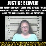 Obama Arrests Christian Kim Davis For Trying To Protect Gays From Sinning