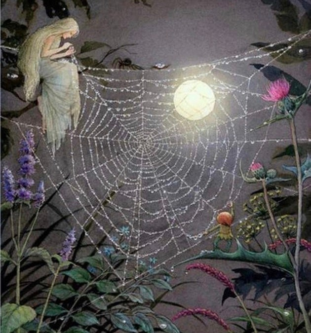 Spider Mother Weaves Life's Web
