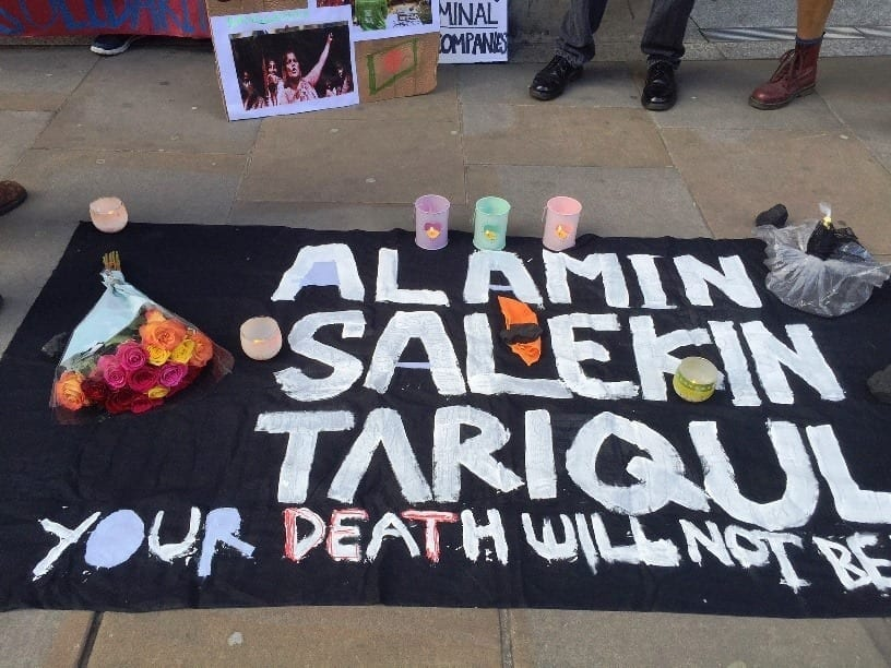 350.org – Vigil held in front of London Stock Exchangeto hold coal mining company accountable