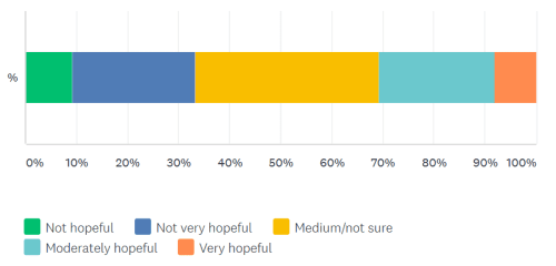 how hopeful are you survey question result