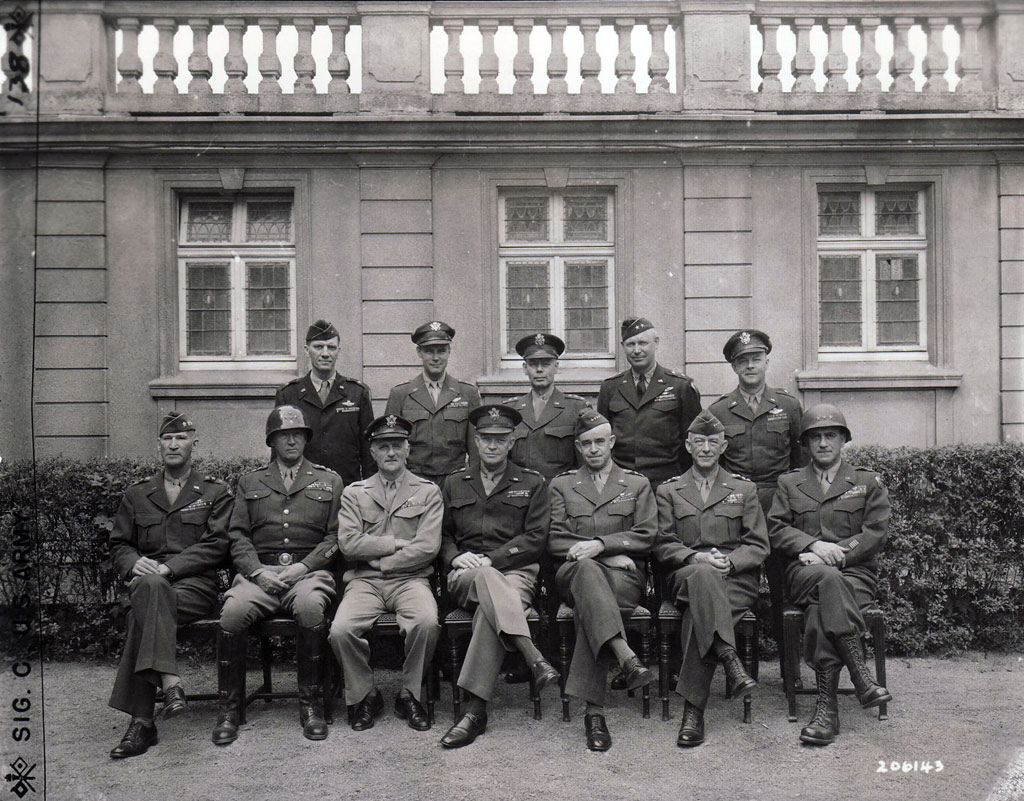 The victorious American commanders, on May 11, 1945.