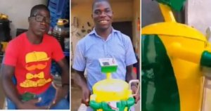 Nigerian innovative youth invent generator that runs on water