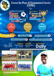 Mulade to splash 2.2 milion naira on Ijaw/Itsekiri peace, unity cup as draws holds Nov. 7