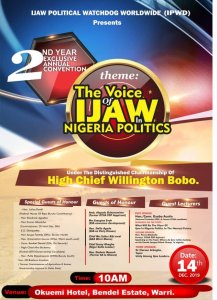 IPWD second annual convention to hold in Warri Dec. 14 at Okuemi