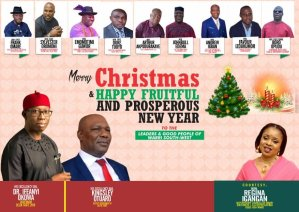 Hon. Igangan greets Okowa, Otuaro, Warri South West Leaders, Wishes Them Merry Christmas