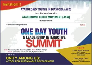 Ayakoromo Leaders, Youths To Meet Today In Ancient Community To Discuss Way forward