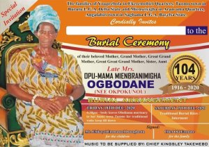 Obuguru Opinion Leader Isereke Eugolizes Late Grand Mother, Describes Her As A Man