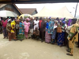 Jubilation As Timi Yanky Foundation Storms Ayakoromo, Distributes Clothes For Widows