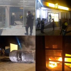 Resultado de imagem para Bandidos explodiram duas agências bancárias na cidade de Santa Cruz do Capibaribe