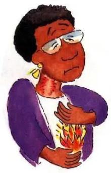 donna con bruciore di stomaco