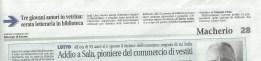 Articolo del 3 febbraio 2015, Giornale di Carate