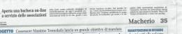 Articolo del 17 marzo 2015, Giornale di Carate