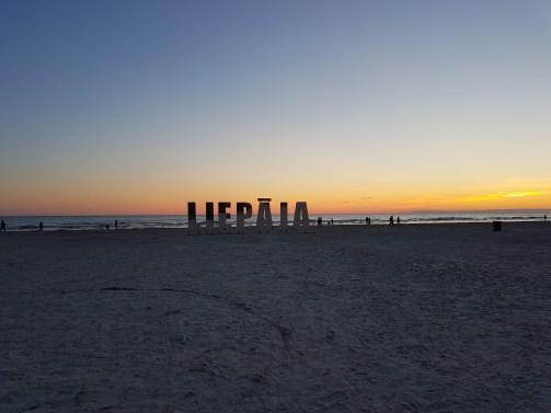 The beach was 8 kilometers long!