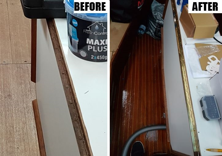 Table hinges before and after