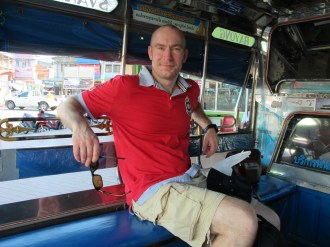 Songthaew was an easy way to travel in the rural areas