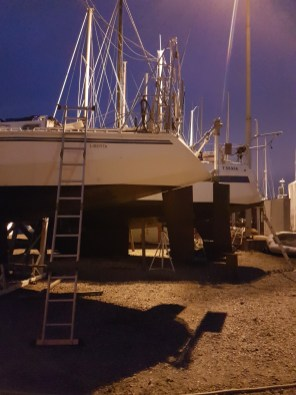 Windvane rudder installed - Liberta.fi
