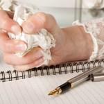 romantic novelist busy editing