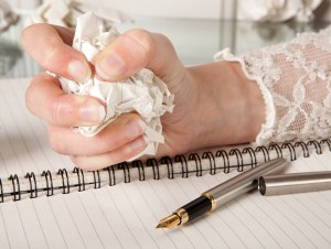 romantic novelist busy creating or editing