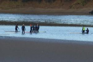 surfers await Severn Bore