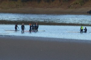 surfers await Severn Bore