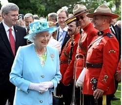 Queen Elizabeth with Mounties. Who may or might she have married?