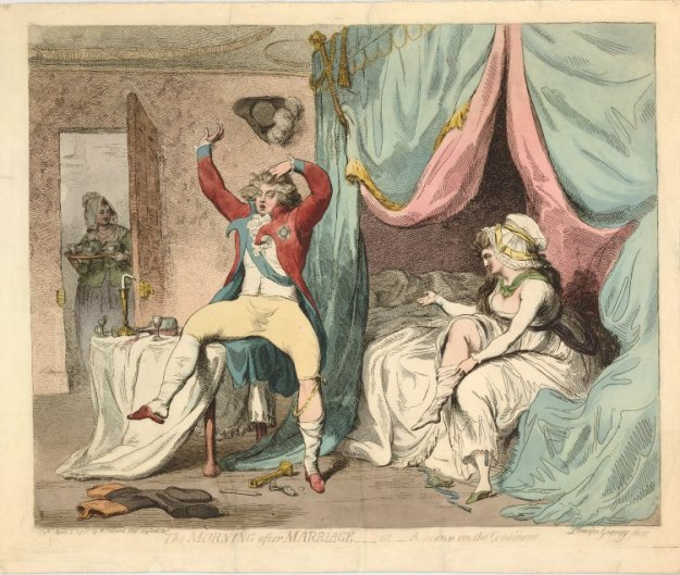 Gilray: The Morning after Marriage