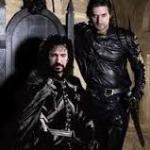 Alan Rickman as Nottingham, Richard Armitage as Gisbourne