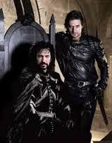 Alan Rickman (Nottingham) and Richard Armitage (Gisborne)