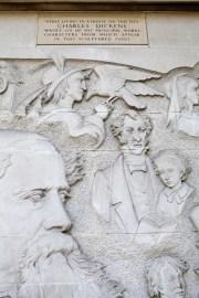 Dickens mural in Devonshire Terrace London