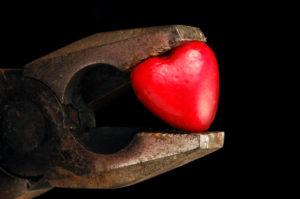 Heart in a rusty wrench, bigstock