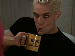 Buffy's Librarian Spike's mug