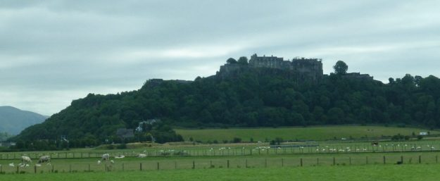 Stirling Castle, sitting on extinct volcano