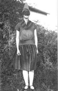guising for halloween in Canada 1928