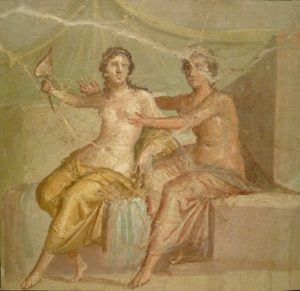 wall painting from secret cabinet, Naples museum