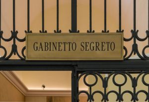 Gate to Secret Cabinet, Naples Museum