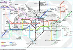 Day 3 wordplay: London tube map in German, sort of