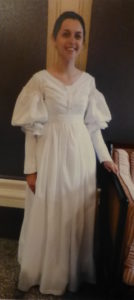 1825 day gown replica in white