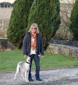 Sarah Mallory and her dog Willow