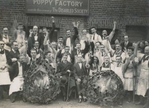 Armistice Day Poppy Factory with Prince of Wales