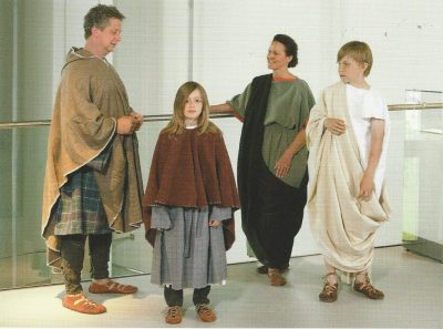 Recontructed Roman and German clothing 2-3rd c AD