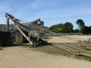 Roman building crane replica Xanten, frontier town