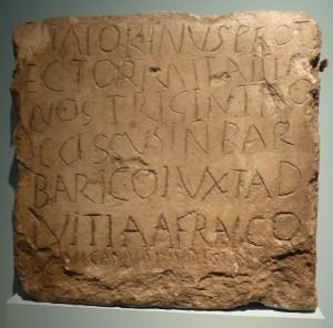 death stone inscription Deutz 4th c AD