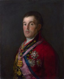 Portrait of Duke of Wellington, painted by Goya, 1812-1814